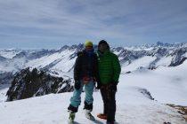 Eva und Rainer auf dem Sustenhorn, Aussicht bis zur ...