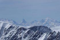 ...und zum Matterhorn u. Weisshorn