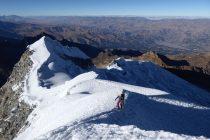 Hoch über Huaraz, rechts unten im Tal.