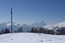 Auf dem Weg zum Gabesitten 2665m mit Blick zu den Dolomiten...