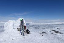 Einsam am Gipfel des Loktacohkka 1404m.