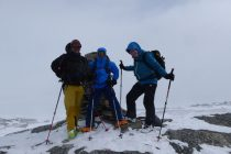 Zweiter Gipfel des Tages: Nach dem Njulla 1164m auf dem Slattatjakka 1186m.