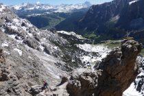 Blick von der Gr. Cirspitze zur Tofana, Antelao, Monte Pelmo v.l.