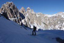 Nach der Abfahrt an der Fonda Savio Hütte vorbei nur ein kurzer Gegenanstieg zur F. Rimbianco und zurück nach Misurina.