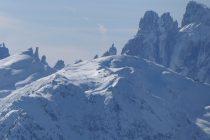 Die Dolomiten so nah, Blick vom Gabesitten